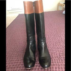 Women's black/brown knee high Boots